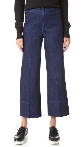 pants cropped dark blue dark blue