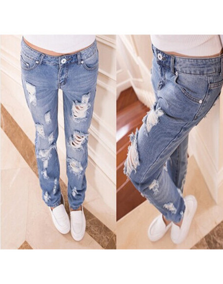 jeans ripped trend elegant wow pants
