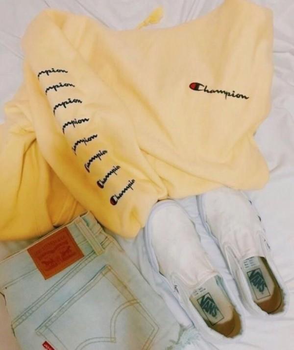 shirt champion yellow