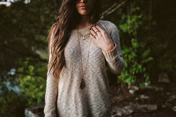 jewels necklaces oversized sweater rings