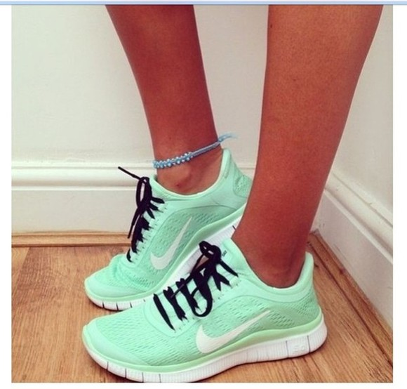 shoes nike running shoes mint green