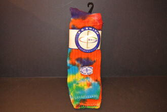 socks e.g. smith slouch boot socks vintage socks tie dye 90s style rainbow 80s style