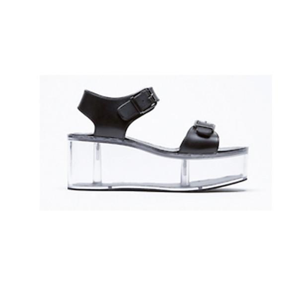8fa54e66fdf shoes vapor clear black platform shoes sandals leather tumblr