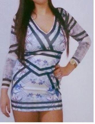 dress bodycon dress printed dress