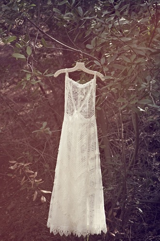 dress boho lace maxi romantic outdoor wedding hipster wedding wedding dress