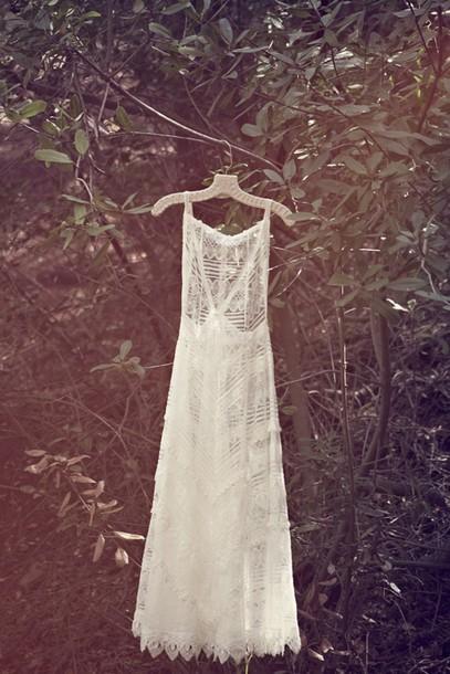 dress boho lace maxi romantic outdoor wedding hipster wedding wedding dress