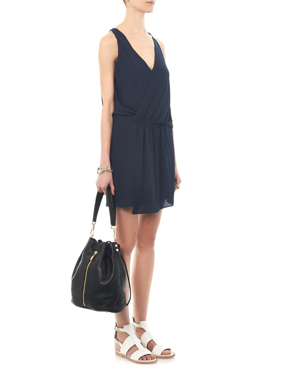 Tiana draped crepe dress