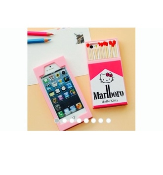 phone cover cigarette pink hello kitty