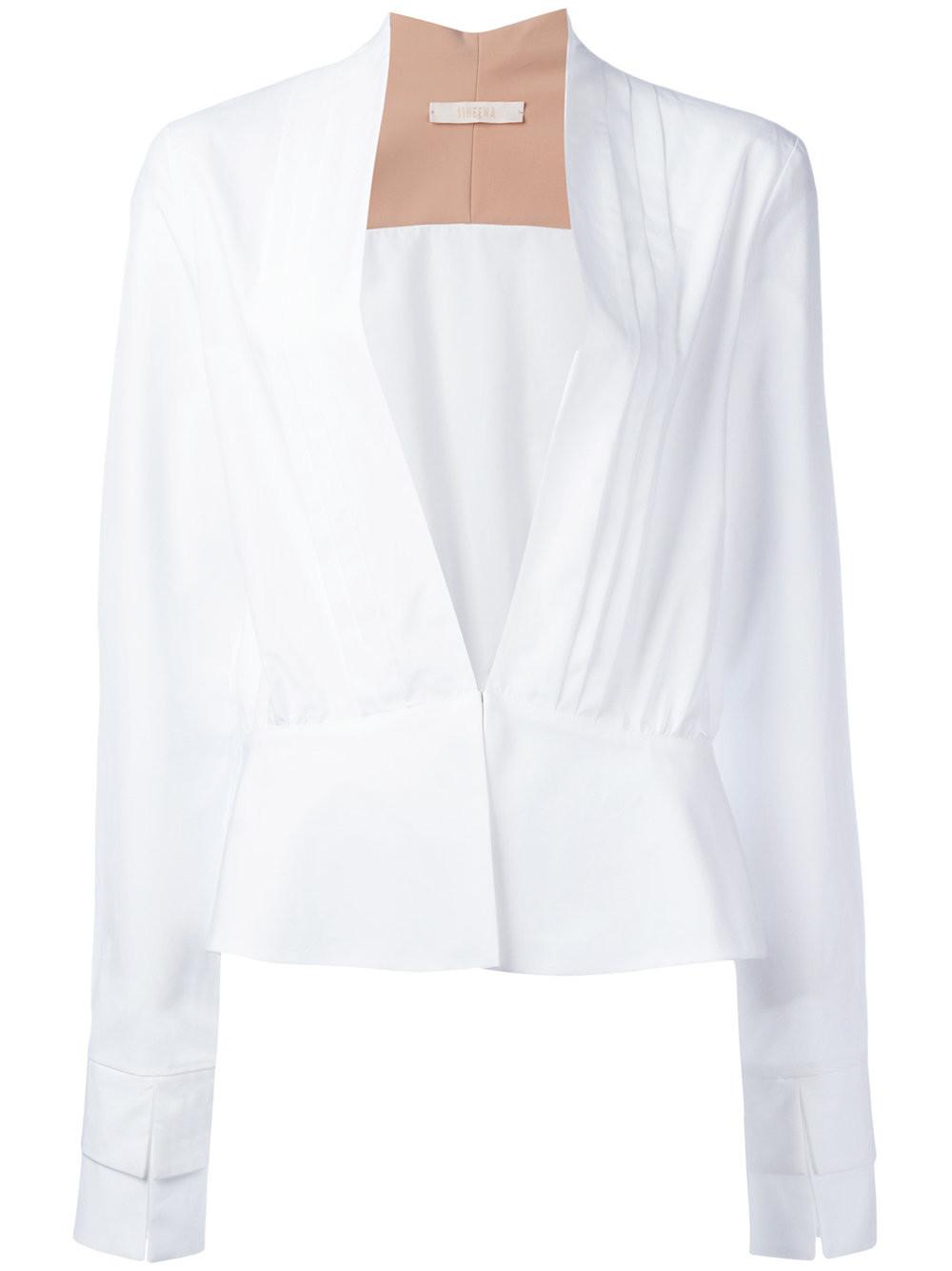Блузки Белые Хлопок Купить