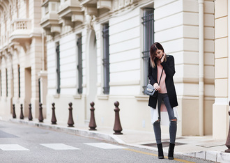 bekleidet blogger jacket top jeans shoes bag