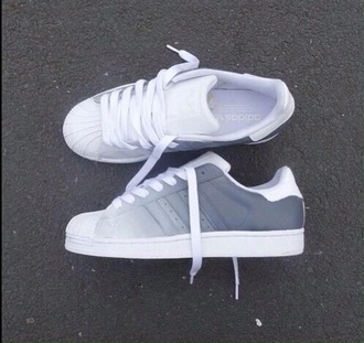 shoes grey shoes grey adidas adidas superstars gris