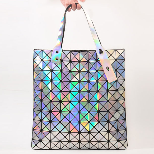 bag issey miyake baobao bag holographic handbag holographic bag