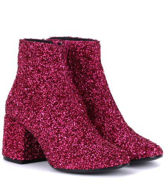 embellished ankle boots pink shoes
