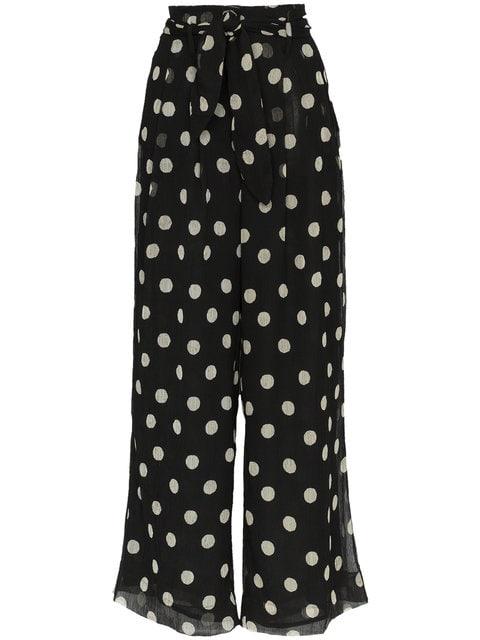 Nanushka Nevada High Waisted Polka Dot wide-leg Trousers - Farfetch