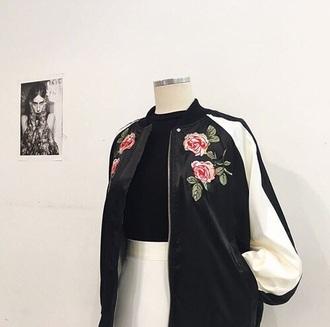 jacket indie grunge grunge t-shirt basic roses cute