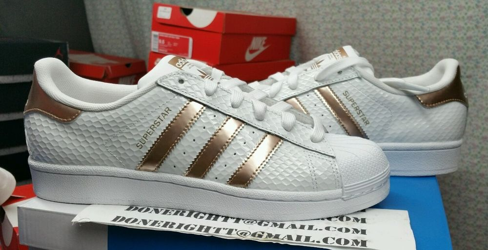 adidas originals superstar rose gold stripes