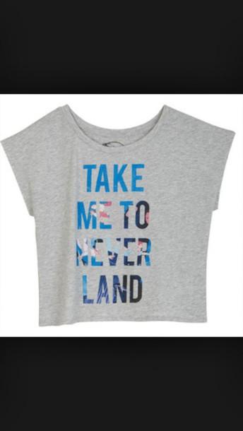 disney takemetoneverland peterpan grey shirt