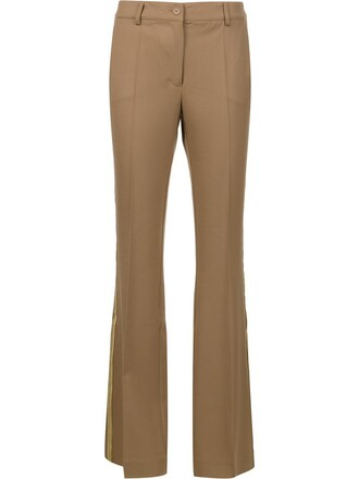 women spandex wool brown pants