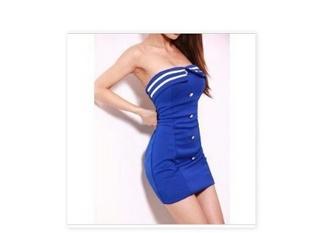 dress blue dress white striped strapless dress blouse light pink