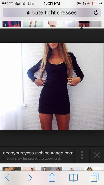 dress black long sleeve bodycon dress short tight sexy dres tight (body fitting) short (about that length) both long sleeve black pretty black dress