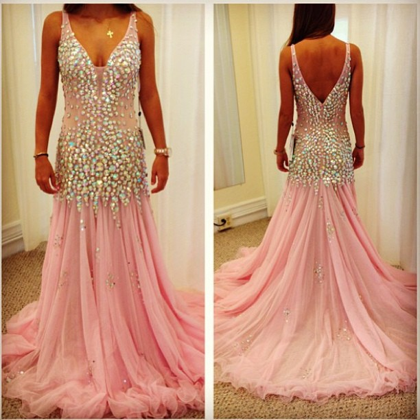 Aliexpress.com : buy vestido de festa 2014 new arrival real made sexy crystal v neck sleeveless chiffon pink evening dress from reliable chiffon wrap dress suppliers on rose wedding dress co., ltd