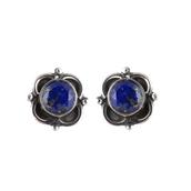 jewels,lapis stone,gemstone,stud earring,women earring,sterling silver,jewelry