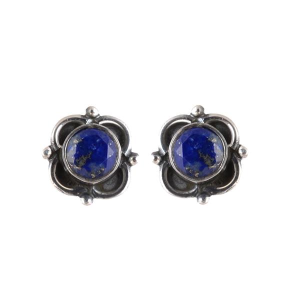 jewels lapis stone gemstone stud earring women earring sterling silver jewelry