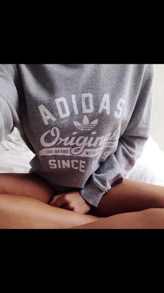 sweater gris adidas sweet blanc fashion joggers girly tshirt adidas originals