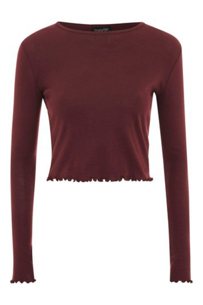 Topshop top long burgundy