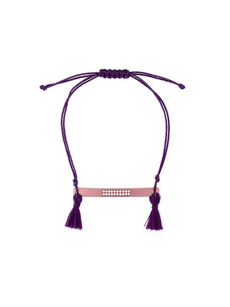 Eye M By Ileana Makri tassel women purple pink jewels