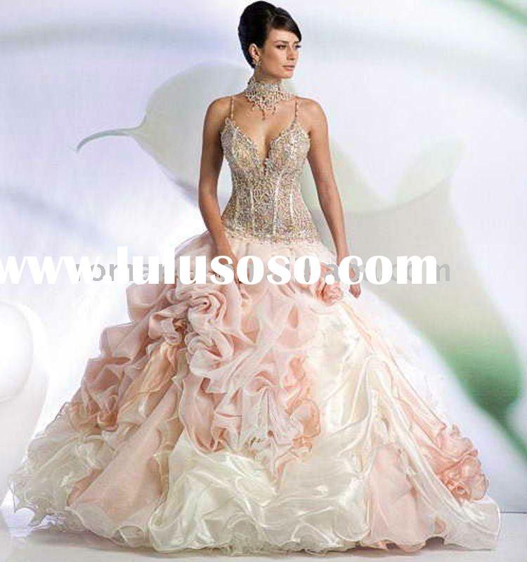 Beautiful Princess Organza Material Diamond Beaded Bridal Wedding ...