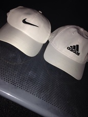 hat,nike,adidas,white,black,cute,baseball cap,women,white adidas hat