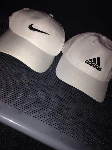 06e23978470 hat nike adidas white black hat cute baseball cap women white adidas hat