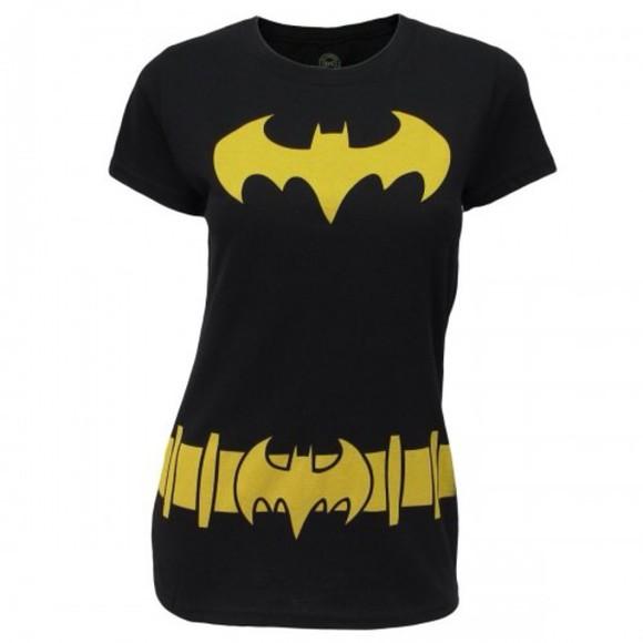 batman t-shirt black yellow girly