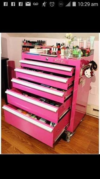 home accessory pink makeup storage organizer