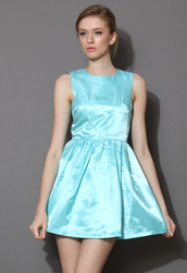 dress,pastel,blue,pastel blue dress,open back,satin,satin dress