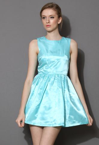 dress blue satin pastel light blue backless satin dress