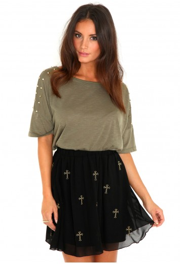 Fashion Find: Edgy Black Cross Skirt! | So Sue Me