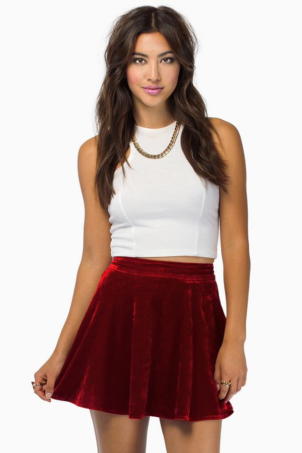 Flirt velour skirt $25