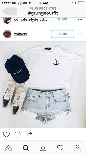 t-shirt white anchor shirt