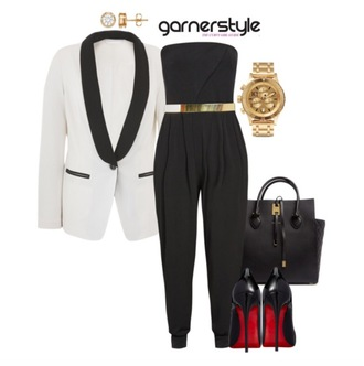 garner style blogger jacket jumpsuit bag