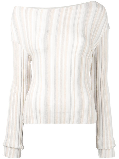 Jacquemus top knitted top women nude wool