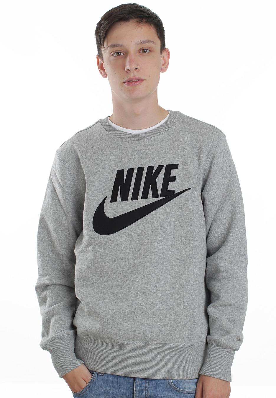 c08d4366898 Nike - PL Brushed Dark Grey Heather/Black - Sweater - Streetwear ...