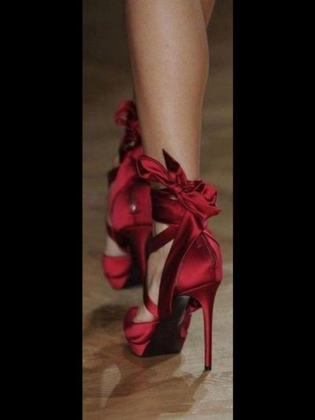 shoes red heels high heels redheels heels dark red satin satin heels