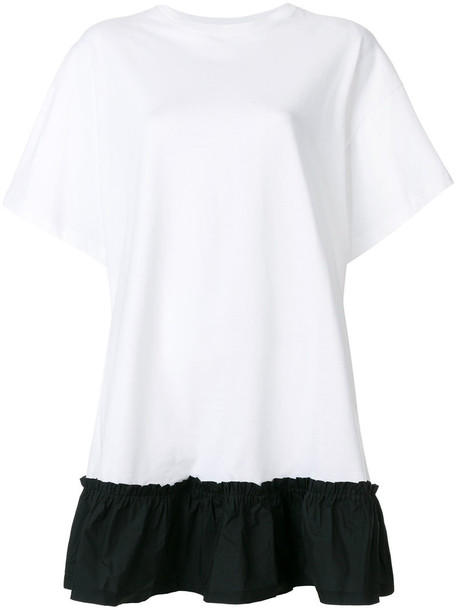 RED VALENTINO dress shirt dress t-shirt dress women white cotton