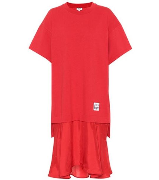 Kenzo Cotton sweatshirt dress in red