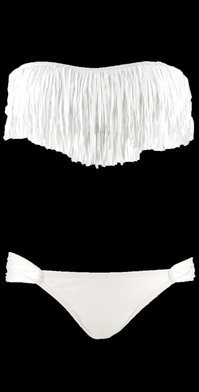 L space 2012 fringe benefits white bikini