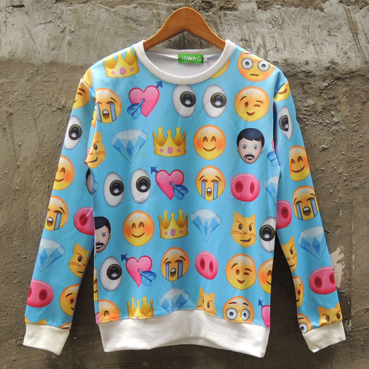 Aliexpress.com : Buy Harajuku style sweatshirt women brand fashion cute emoji printed plus size hoodies iswag sweatshirt 3d female Nora05542 from Reliable sweatshirt fashion suppliers on Stylish Harajuku