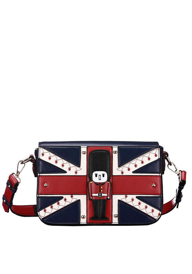 Union Jack Printed Ladies Wallet With Sling | ReoRia
