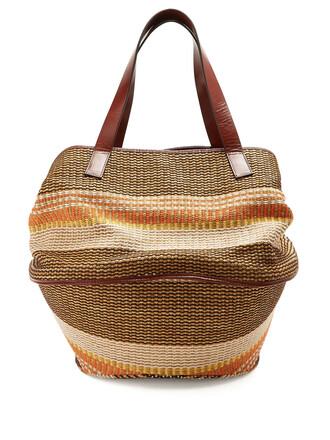 bag basket bag leather brown